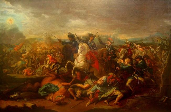 Eugenio di Savoia durante la battaglia di Belgrado 1717 - Johann Gottfried Auerbach