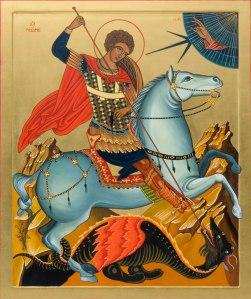 San Giorgio (Cappadocia, 275-285 circa – Nicomedia, 23 aprile 303) uccide il drago, Piccolo Eremo delle Querce